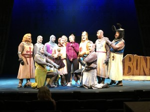 """Jessica """"In Action"""" as Associate Choreographer of """"Spamalot"""""""